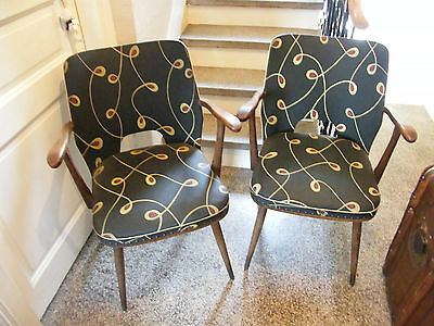 Pair of Armchairs Bridge Cocktail Years 50 Feet Brass
