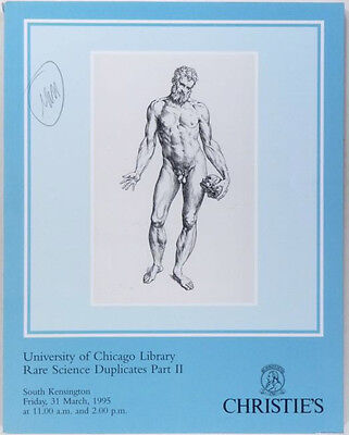 Rare Science Books - University of Chicago Library Auction -2 Volume Set