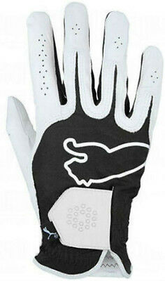 Puma Performance Mens Golf Glove Right Hand for Left Handed Golfers Black White