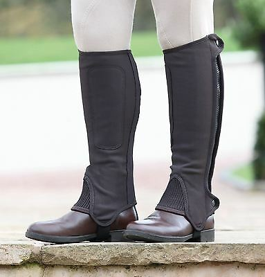Shires Child Synthetic Nubuck Half Chaps - Black or Brown