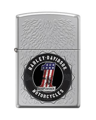 Zippo 2210, Harley Davidson-#1, High Polish Chrome Finish Lighter