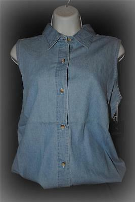 SIGMA LARGE Light Sleeveless Denim Shirt Womens Ladies High Quality 300 Country