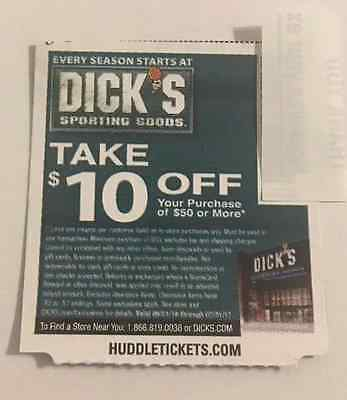 1 Dick's Sporting Goods $10 Off a $50 Purchase HURRY EXPIRES END MONTH 7/31/17