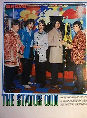 1 german clipping STATUS QUO N. SHIRTLESS PARFITT ROSSI ROCK BOY BAND BOYS GROUP