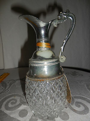 Vintage  Ross Products Oil/vinegar/bud Vase/ Wine Jug For Two Made In Italy