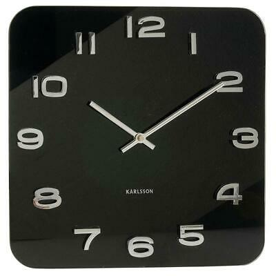 Karlsson 35cm Vintage Glass Wall Clock with 3D Numbers contemporary Minimalist
