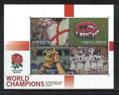 Great Britain 2003 Rugby World Championships ss--Sports Topical (2171) MNH