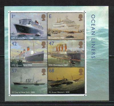 Great Britain 2004 Famous Ocean Liners ss--Attractive Ship Topical (2207a) MNH