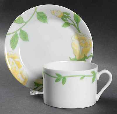 Fitz & Floyd YELLOW ROSE Cup & Saucer 130265
