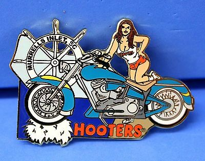 Hooters Girl Teal Motorcycle Murrells Inlet Sc South Carolina Puzzle Pin