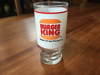 Burger King Home of Whopper Drinking Glass Where Kids Are King Vintage Beverage