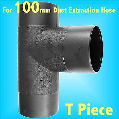 T Piece Branch for 100mm Dust Extraction Hose Charnwood SIP Record extractor