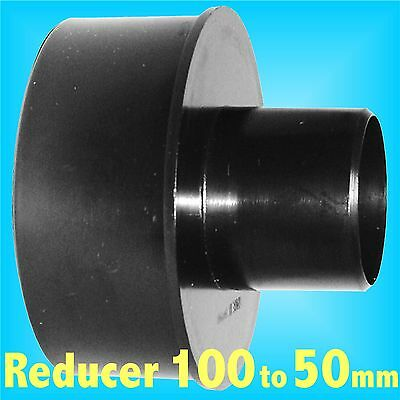 Reducer 100mm to 50mm for Dust Extraction Hose Charnwood SIP Record extractor