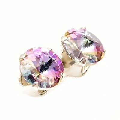 925 Sterling Silver 6mm Starlight Stud Earrings Made With Crystal From SWAROVSKI