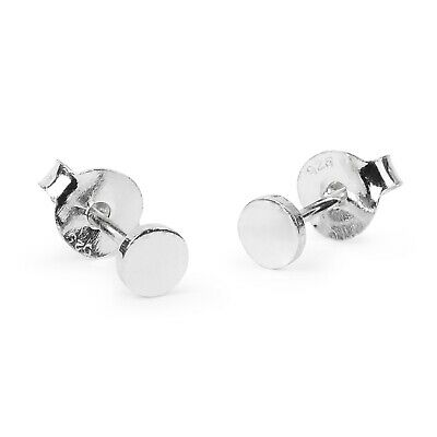 Pair 925  Sterling Silver 4mm Round stud earrings