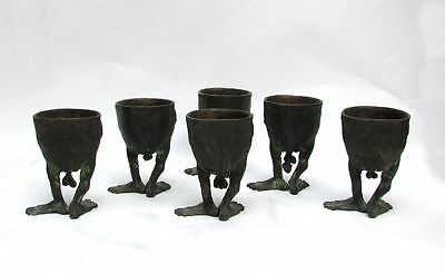 6 Outrageous Bronze Cups Sculpture Arts & Crafts Artist Tom Brun Detroit Mich