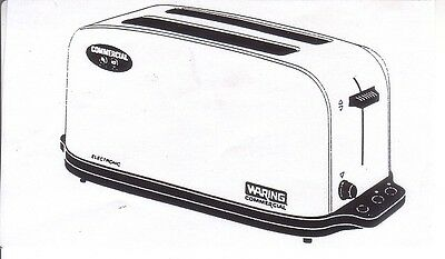 Waring Wct704 Commercial Pop Up Toaster 4 Slice New In Box