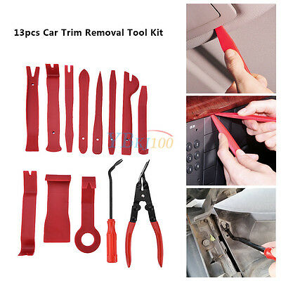 13x Car Radio Dash Panel Door Moulding Trim Clip Install Removal Pry Tools Kit