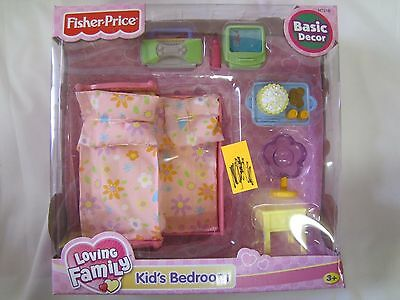 NEW Fisher Price Loving Family Dollhouse KIDS BEDROOM Trundle Girls Bed 2005 NIB