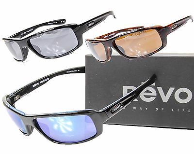 cd7bd4323a NEW REVO CONVERGE POLARIZED SUNGLASSES Black Grey or Black Blue Mirror MSRP   209