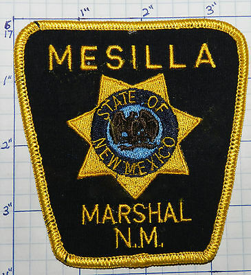 New Mexico, Mesilla Marshal Blue Police Patch