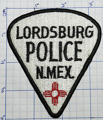 New Mexico, Lordsburg Police Dept White Patch