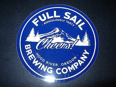 FULL SAIL Blue Cheers Circle Logo STICKER decal craft beer brewery brewing