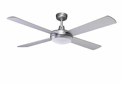 "Martec Lifestyle 52"" Ceiling Fan with 24W Dimmable LED Light in B/Aluminium"