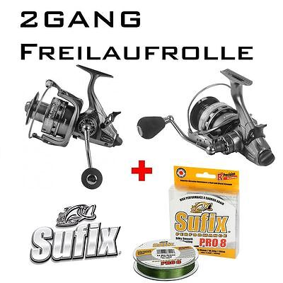 2-Gang Freilaufrolle Impact 600 + 275m Sufix PERFORMANCE PRO 8 0,24mm/19kg
