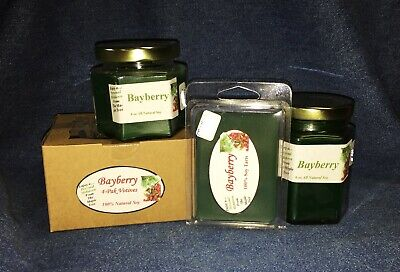 *NEW* Hand Poured Winter Holiday Scents Soy Candles, Tarts & Votives - Bayberry