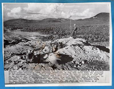 1962 Guantanamo Bay USMC Marine Outpost Original Press Wirephoto