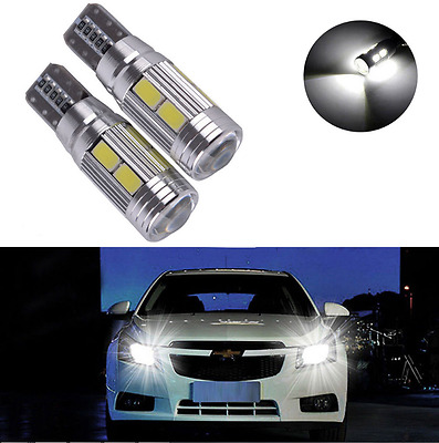 2X T10 194 W5W 5630 LED 10 SMD CANBUS ERROR FREE Car Side Wedge White Light Bulb