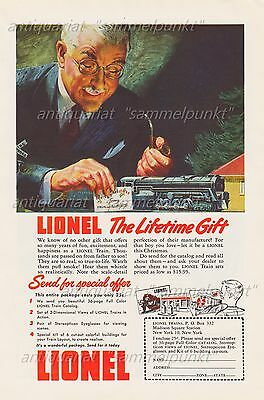 Lionel Train THE LIFETIME GIFT - Original Anzeige von 1948