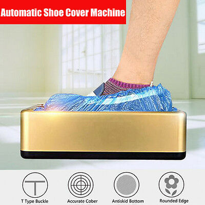 AU Automatic Shoe Cover Machine One-time Disposable Gloves Machine + 100Pcs Bags
