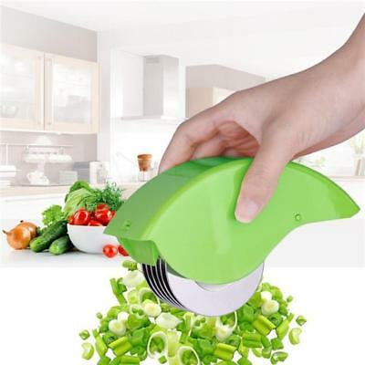 1X Herb Rolling Roll Rollers Mincer Herbal Manual Hand Scallion Cutter Slicer LA