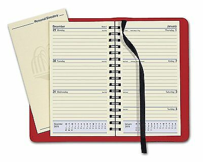 Collins 2018 Elite Pocket size Week To View Diary in Red- 1165V