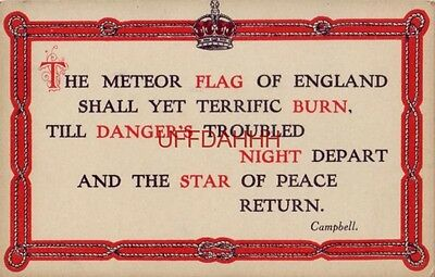 THE METEOR FLAG OF ENGLAND SHALL YET TERRIFIC BURN, Scottish poet T. Campbell