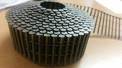 Atro N217R40AT 2.17 X 40mm Wire Coil Nails. Bright, Ring. Conical. Fit Roll 60