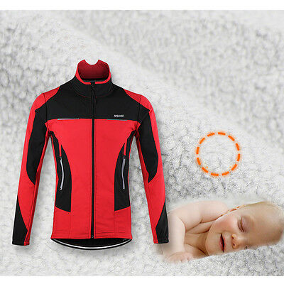 ARSUXEO Thermal Cycling Jacket Bicycle Clothing Winter Sports Coat Jersey M Size
