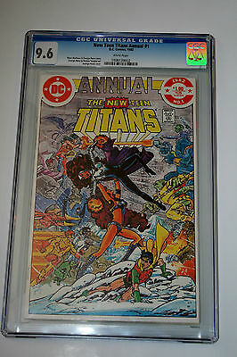 New Teen Titans Annual #1 (Cgc 9.6) George Perez Story, Art & Cover; High Grade!