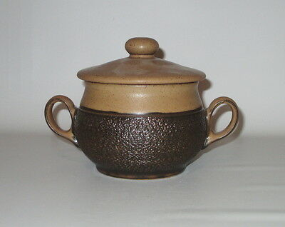 Denby Cotswold Lidded Individual Soup Casserole Bowl Handled 1970s England