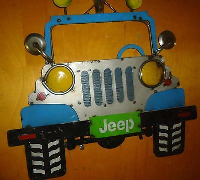 Jeep Grill Front End Mexico Man Cave Garage Wall Hanging Recycled Metal Tin Sign