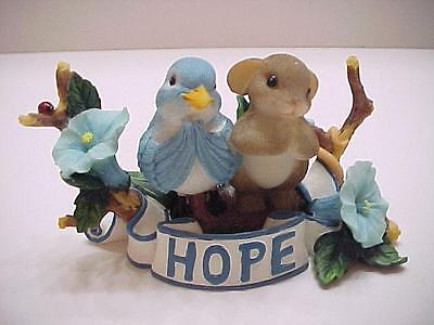 NIB Charming Tails Fitz & Floyd YOU GIVE ME HOPE Mouse Bird Figurine 89/387
