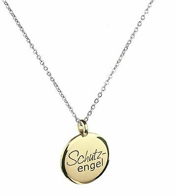 Ernstes Design Pendant AN521 Guardian Angel Stainless Steel Yellow Gold