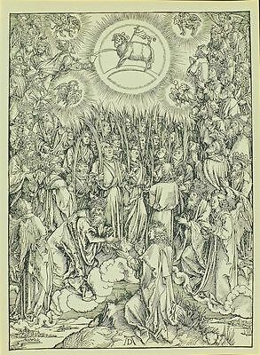 The hymn in adoration of the lamb by Albrecht Durer Giclee Canvas Print