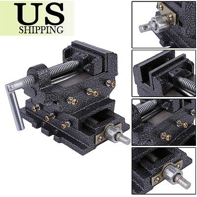 3'' Cross Drill Press Vise Slide Metal Milling 2 Way X-Y Clamp Machine Usa Se