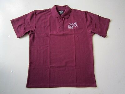 Personalised Embroidered Kid's Shirt and your choice of Horse Design in Burgundy