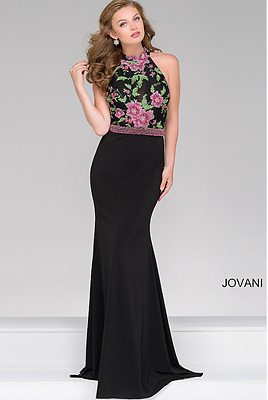 eaee3ec369e OPEN-BACK EMBELLISHED FLOOR-LENGTH Gigi Prom Dress by La Femme Size ...