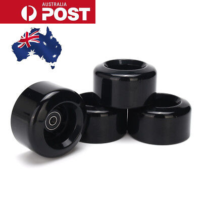AU New 4pcs 8044 80A 80mm Black PU Wheels for Longboard Skateboard Flywheels