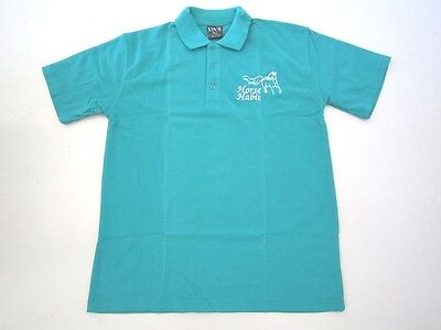 Personalised Embroidered Kid's Shirt in JADE  with your choice of Horse Design